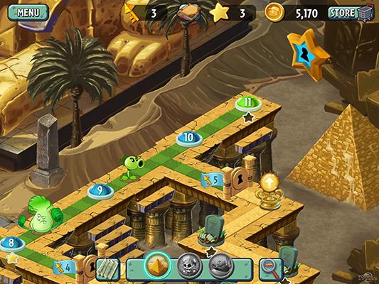《植物大战僵尸2》埃及第九关二星完全攻略